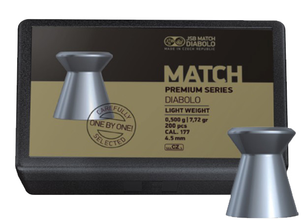 Diabolo JSB Premium Match Light 200ks cal.4,48mm